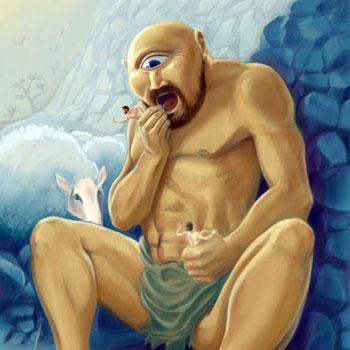 Il ciclope Polifemo divoratore di uomini