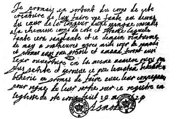 Il documento infernale firmato da Asmodea