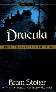 Una copertina di un'edizione del Dracula di Bram Stoker