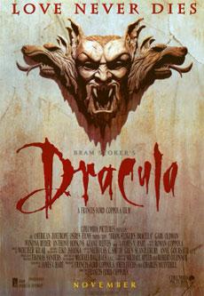 La locandina del Bram Stoker's Dracula di Coppola