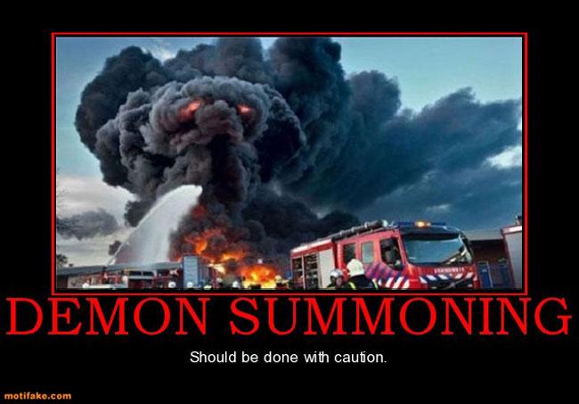 Evocazione demoniaca: da compiere con cautela!