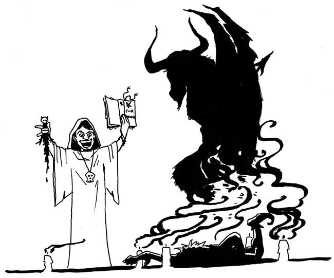 Una vignetta sull'evocazione del male