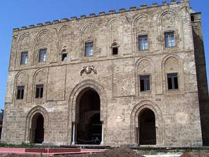 La facciata del palazzo Zisa