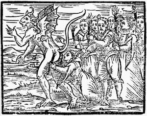 Seguaci del demonio a un sabba