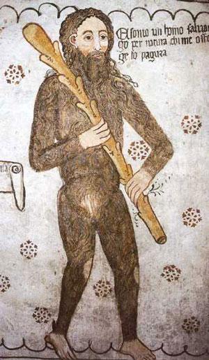 Un disegno dell'Uomo Selvatico