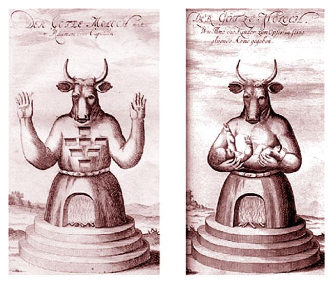 Il dio Moloch esigeva sacrifici umani