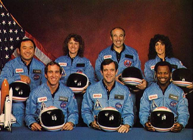 L'equipaggio dello shuttle Challenger