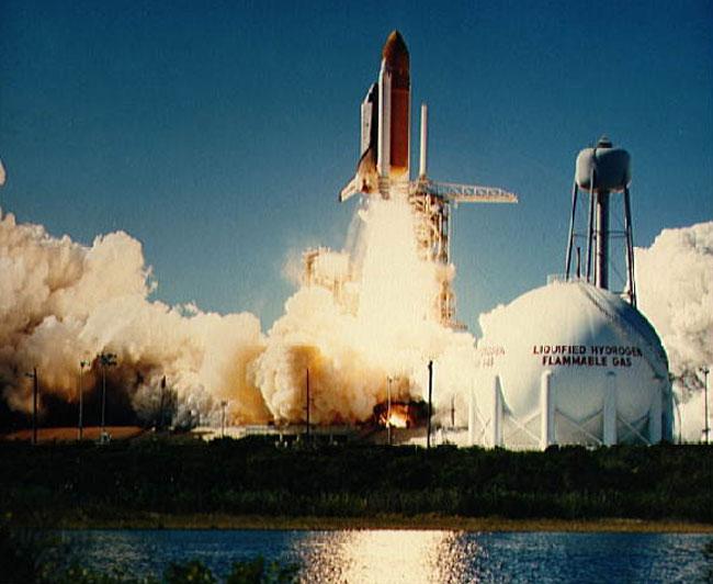 Il decollo dello shuttle Challenger