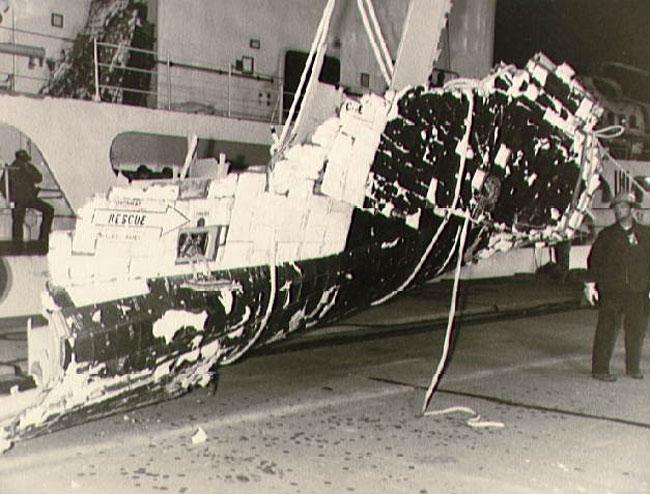 I resti recuperati dello shuttle Challenger