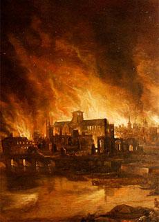 Il Grande Incendio di Londra del 1666