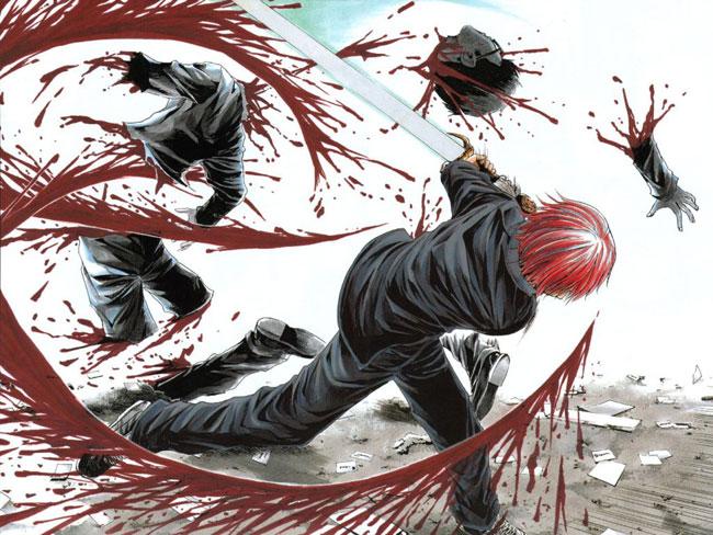 Una immagine del fumetto High School Of The Dead
