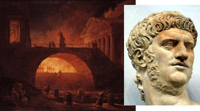 Nerone e l'incendio di Roma del 64 d.C.