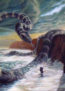 Jormungand, l'enorme serpente di Midgard