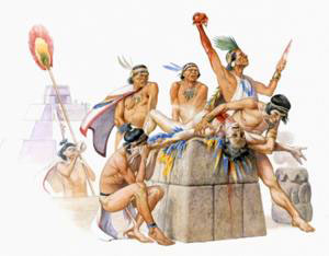 Cerimonia di sacrificio umano Maya