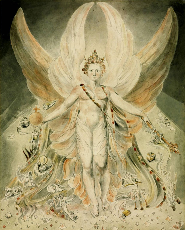 Satana dipinto da William Blake
