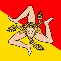Il simbolo della regione Sicilia