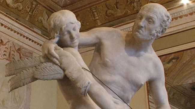 La statua di Dedalo e Icaro del Canova
