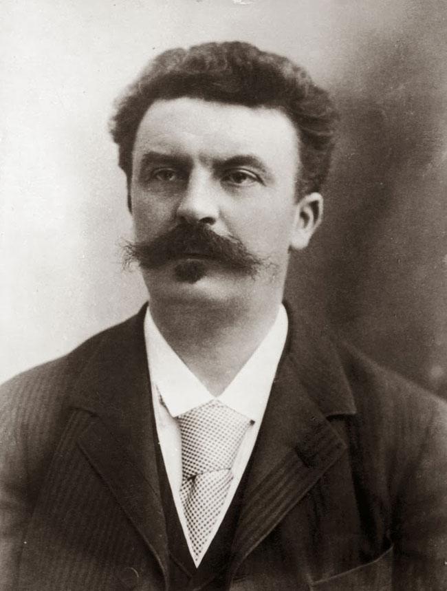 Un ritratto dello scrittore Guy de Maupassant
