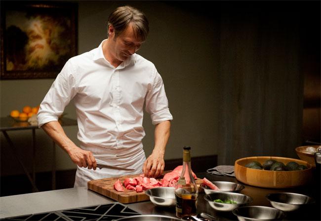 Un fotogramma del telefilm americano Hannibal