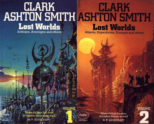 Copertine di libri dello scrittore Clark Ashton Smith