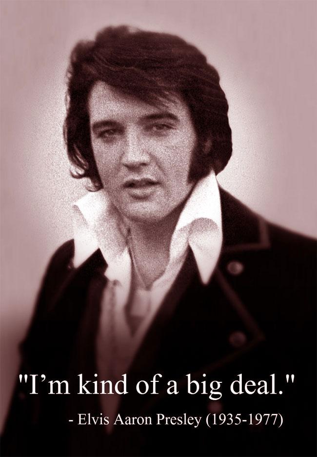 Una foto del Re del Rock'n'Roll, Elvis Presley