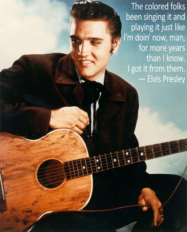 Una foto con citazione di Elvis Presley, il Re del Rock'n'Roll