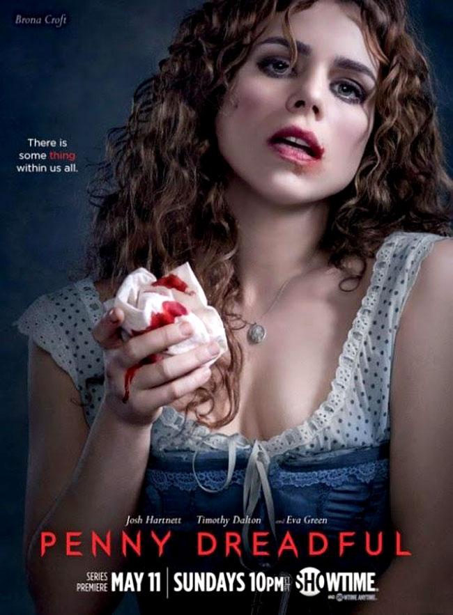 Un poster promozionale della prima Stagione di Penny Dreadful rappresentante Brona Croft