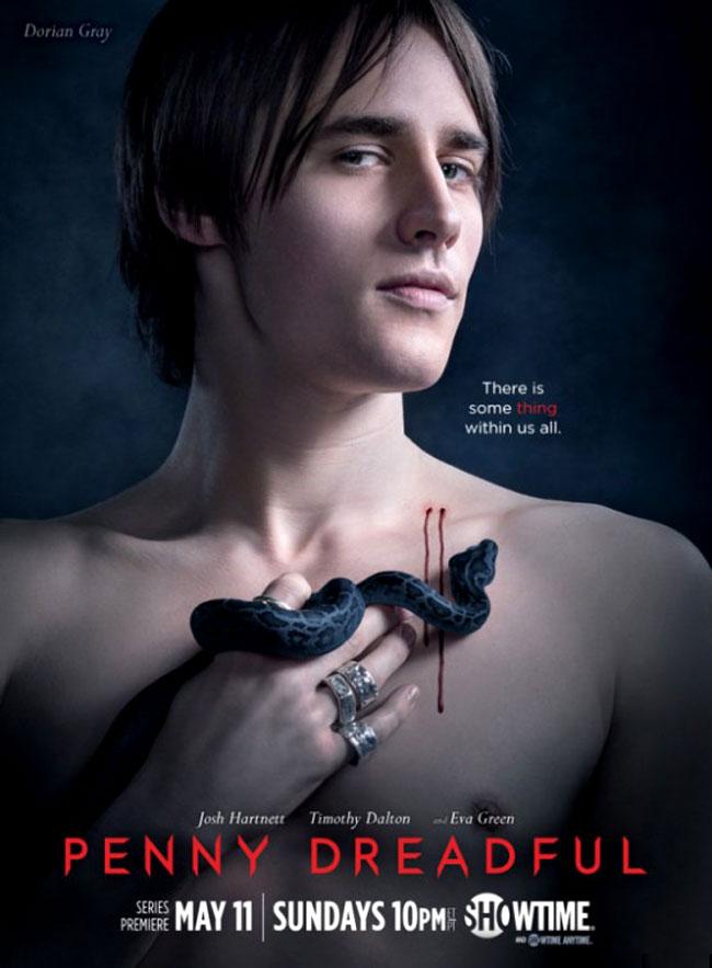 Un poster promozionale della prima Stagione di Penny Dreadful rappresentante Dorian Gray