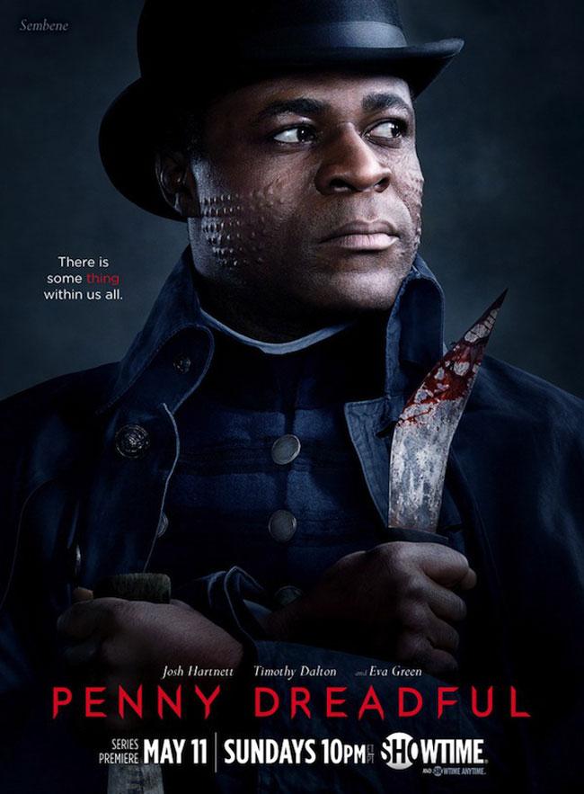 Un poster promozionale della prima Stagione di Penny Dreadful rappresentante Sembene