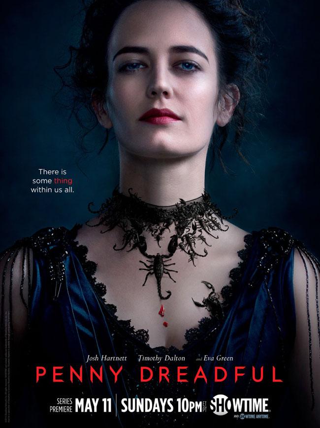 Un poster promozionale della prima Stagione di Penny Dreadful rappresentante Miss Vanessa Ives