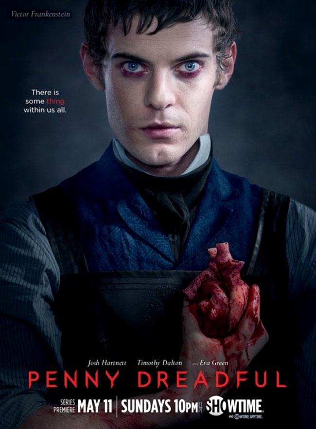 Un poster promozionale della prima Stagione di Penny Dreadful rappresentante Victor Frankenstein