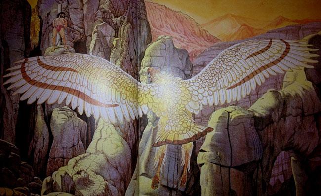 Un'illustrazione del mito di Prometeo e dell'aquila mangia fegato