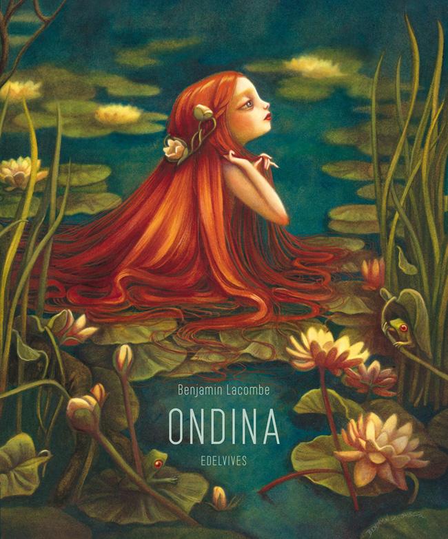 La copertina del libro Ondine di Benjamin Lacombe