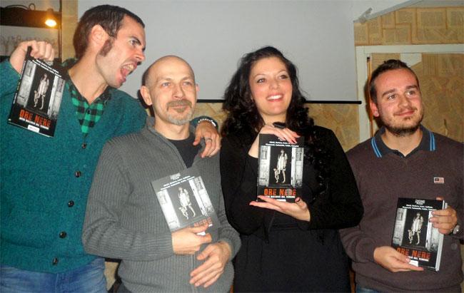 Yuri Abietti con altri protagonisti di Ore Nere