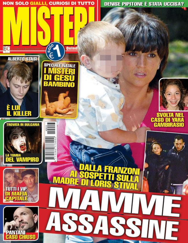 La copertina del numero 1 del 31 gennaio 2015 della rivista Misteri