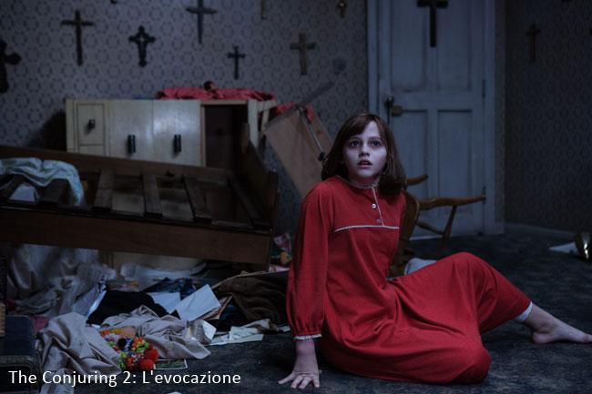 Una foto dal sequel horror del 2016 intitolato The Conjuring 2: L'Evocazione