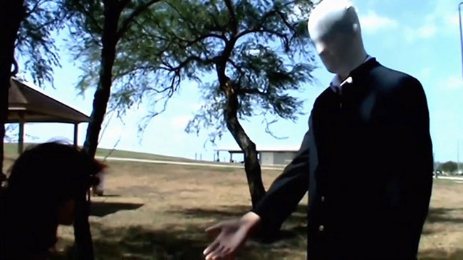 Un fotogramma dal film Beware the Slenderman