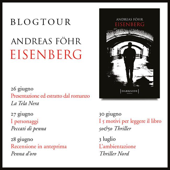 Le date del blog tour Fazi per il romanzo Eisenberg