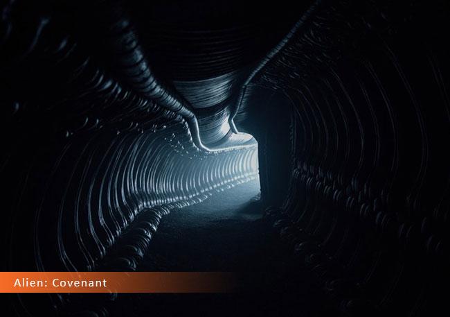 Un fotogramma dal film horror 2017 intitolato Alien: Covenant