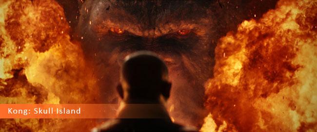 Un fotogramma dal film horror 2017 intitolato Kong: Skull Island