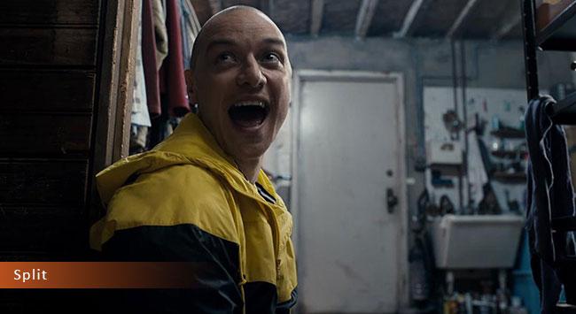 Un fotogramma dal film horror 2017 intitolato Split