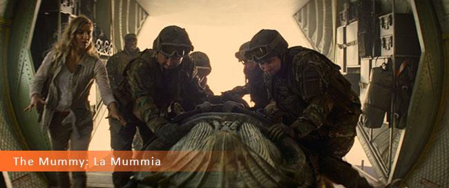 Un fotogramma dal film horror 2017 intitolato La Mummia