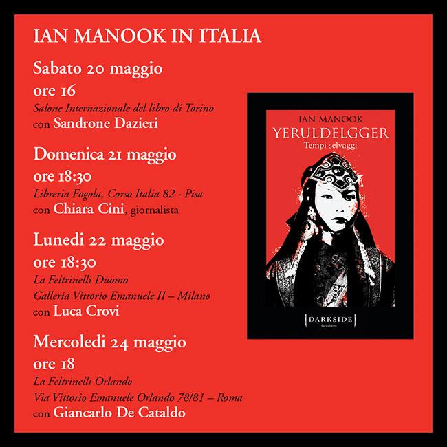 Incontri con Ian Manook in Italia