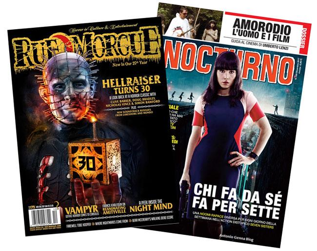Le riviste horror Rue Morgue e Nocturno
