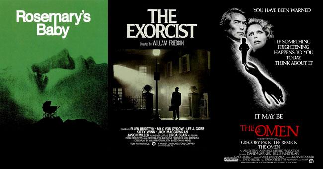 I poster di Rosemary's Baby, L'Esorcista e Il Presagio