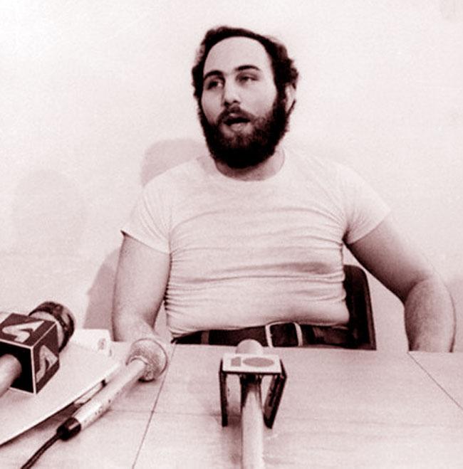 Una foto di David Berkowitz in conferenza stampa