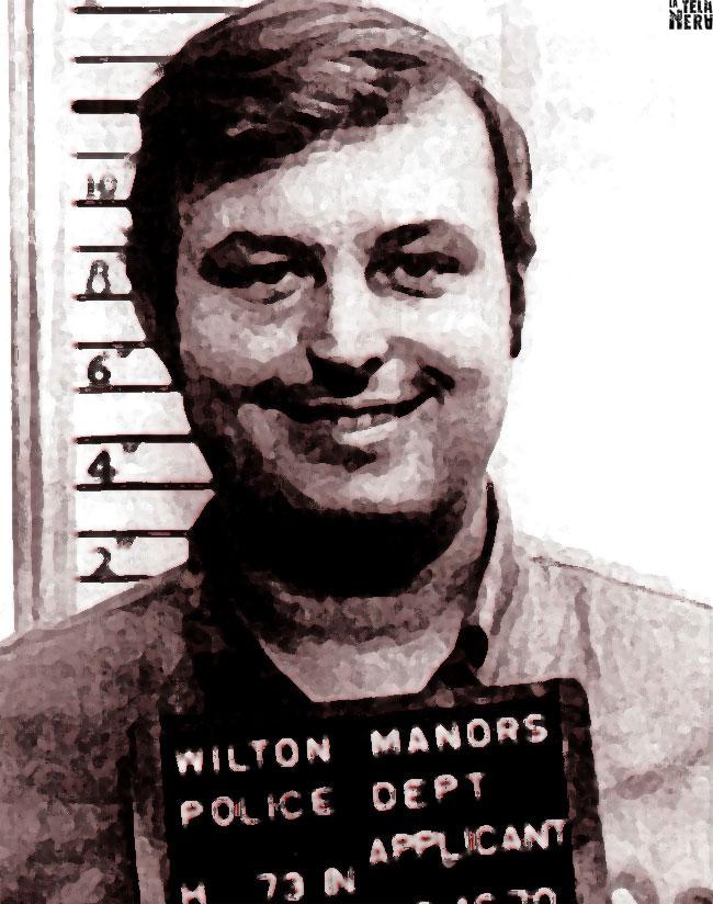 Un'immagine artistica del serial killer americano Gerard John Schaefer