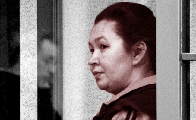 Una foto della serial killer Irina Gaidamachuk al processo