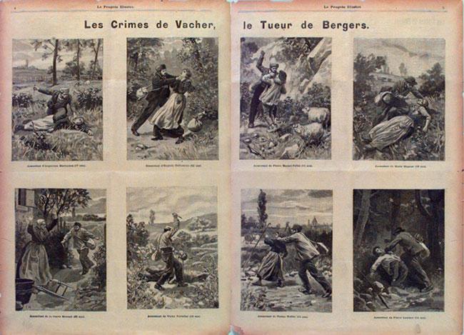 Illustrazioni degli omicidi di Joseph Vacher