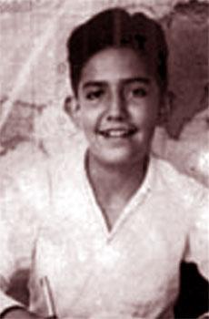 Una foto di Luís Alfredo Garavito da bambino